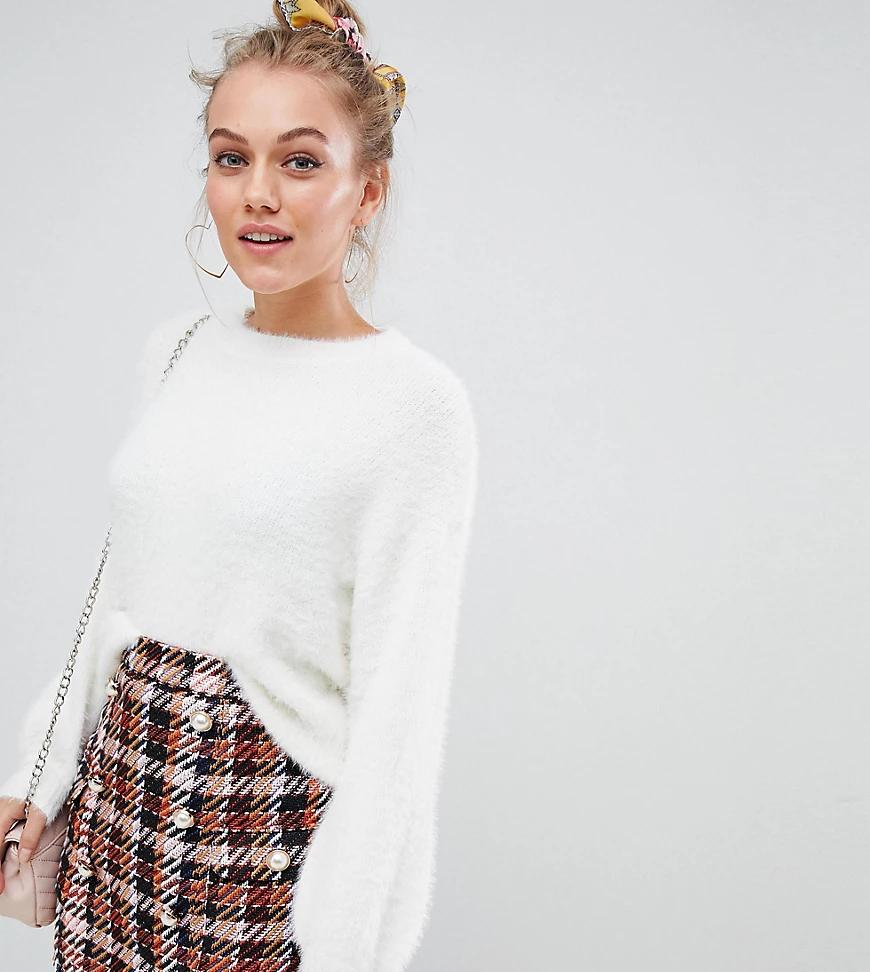 New Look | Пушистый джемпер New Look Реtitе-Кремовый | Clouty