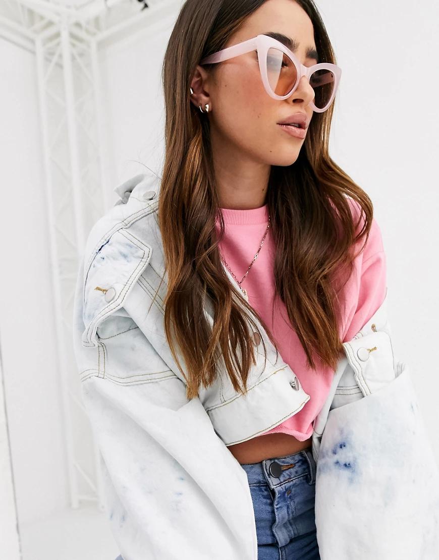 """ASOS   Розовые массивные солнцезащитные очки """"кошачий глаз"""" ASOS DЕSIGN-Розовый   Clouty"""