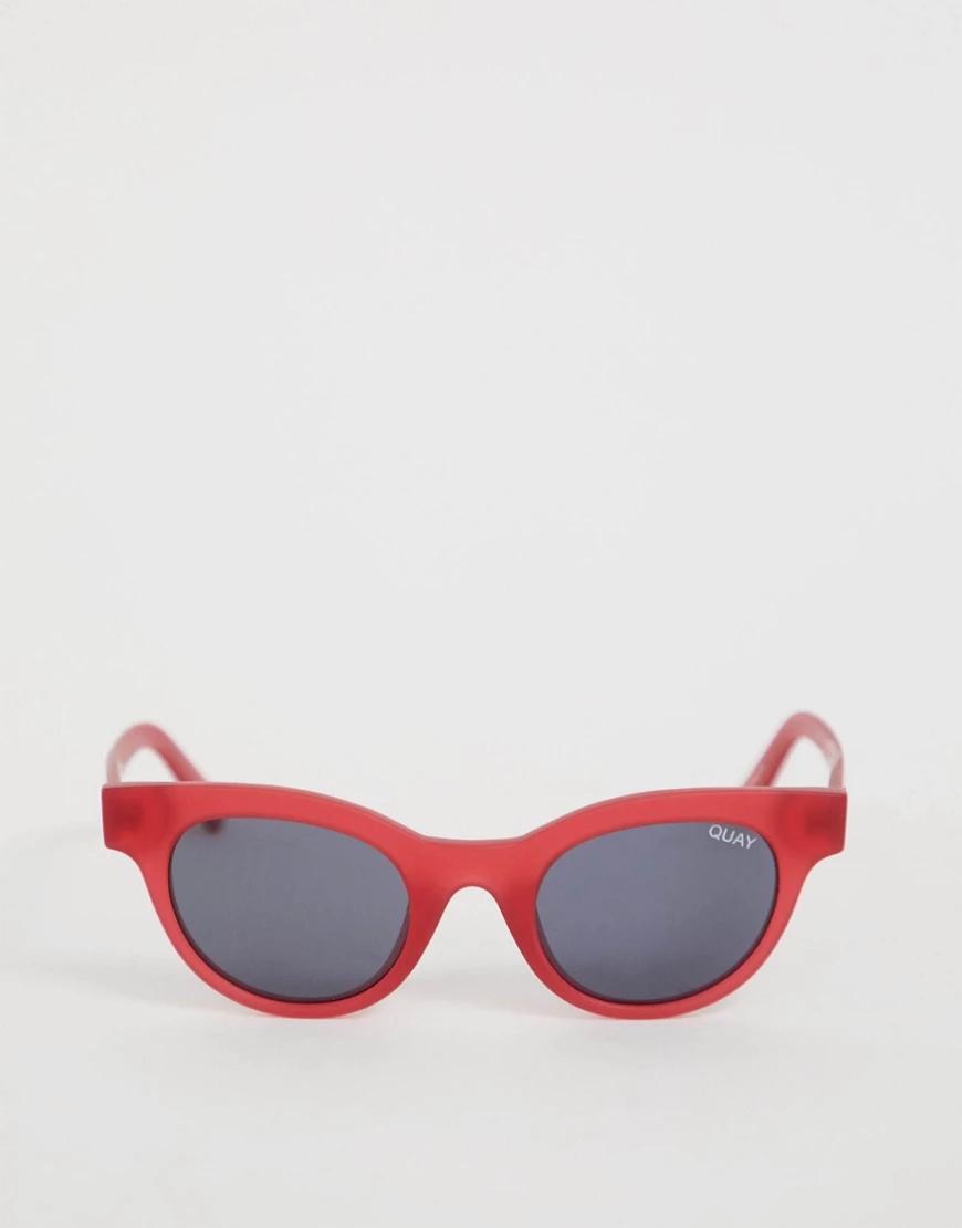 Quay Australia | Розовые солнцезащитные очки Quay Australia - LIVE AND LЕАRN-Розовый | Clouty