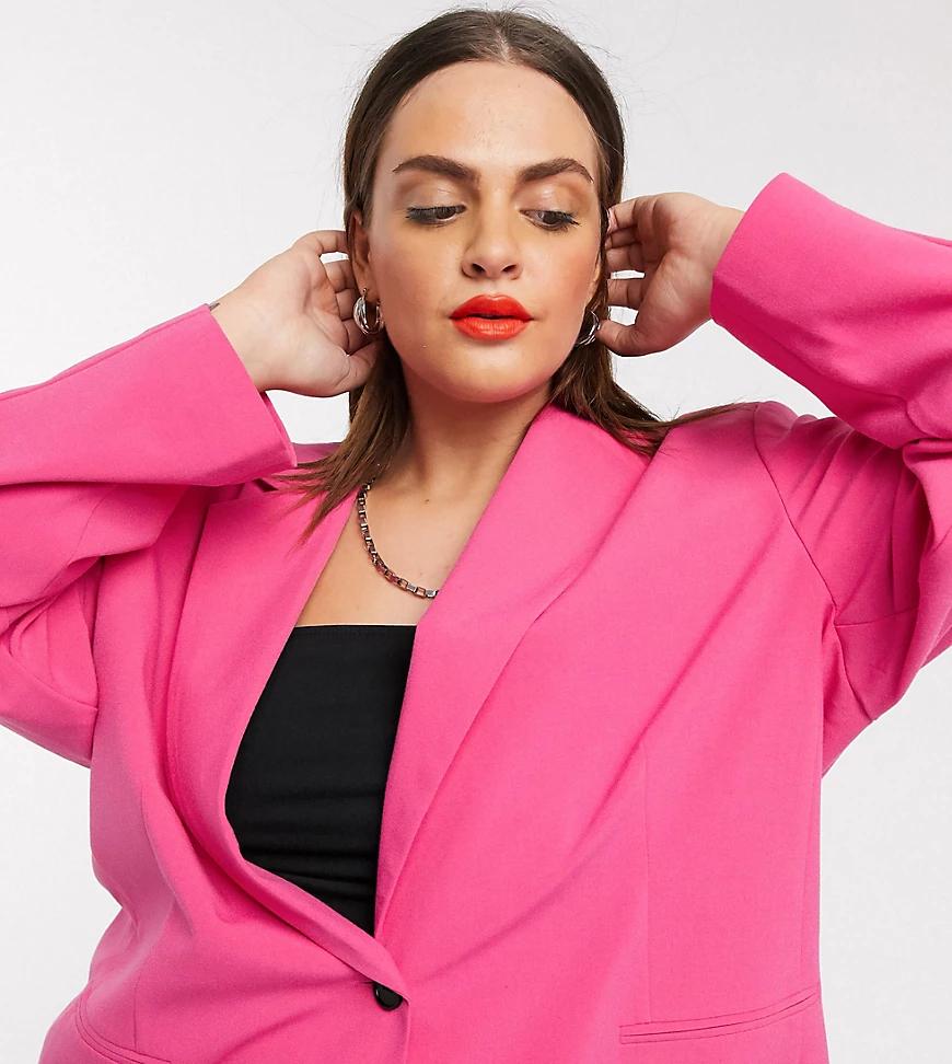 Collusion | Розовый oversized-nuджak в винтажном стиле COLLUSION Plus | Clouty