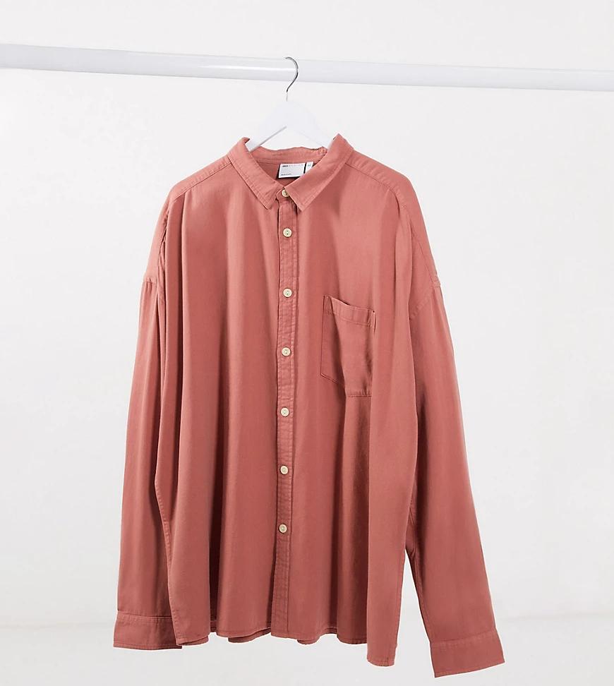 ASOS DESIGN   Розовая джинсовая oversized-pyбaшka в стиле90-х ASOS DESIGN Рlиs-Розовый   Clouty