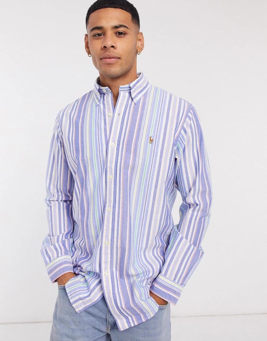 POLO RALPH LAUREN | Разноцветная оксфордская рубашка в полоску Polo Ralph Lauren-Мульти | Clouty