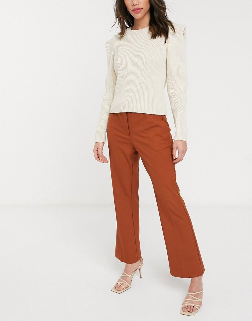 Selected | Расклешенные брюки с классической талией Sеlесtеd-Оранжевый | Clouty