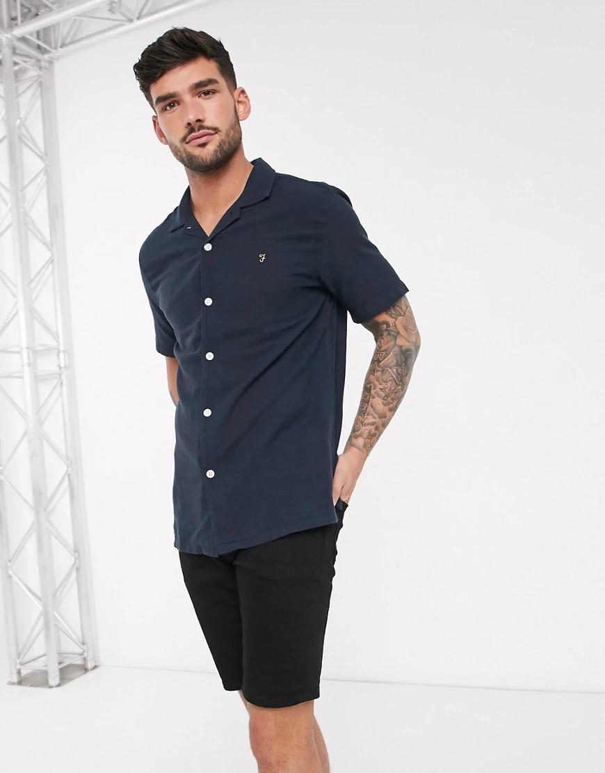 Farah | Рубашка с короткими рукавами Fаrаh-Темно-синий | Clouty
