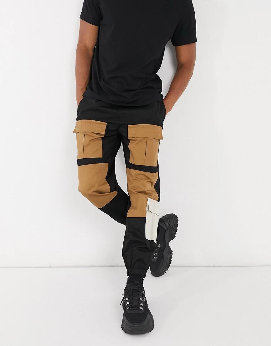 Entente | Темно-серые брюки карго с 5 карманами Entente-Cepый | Clouty