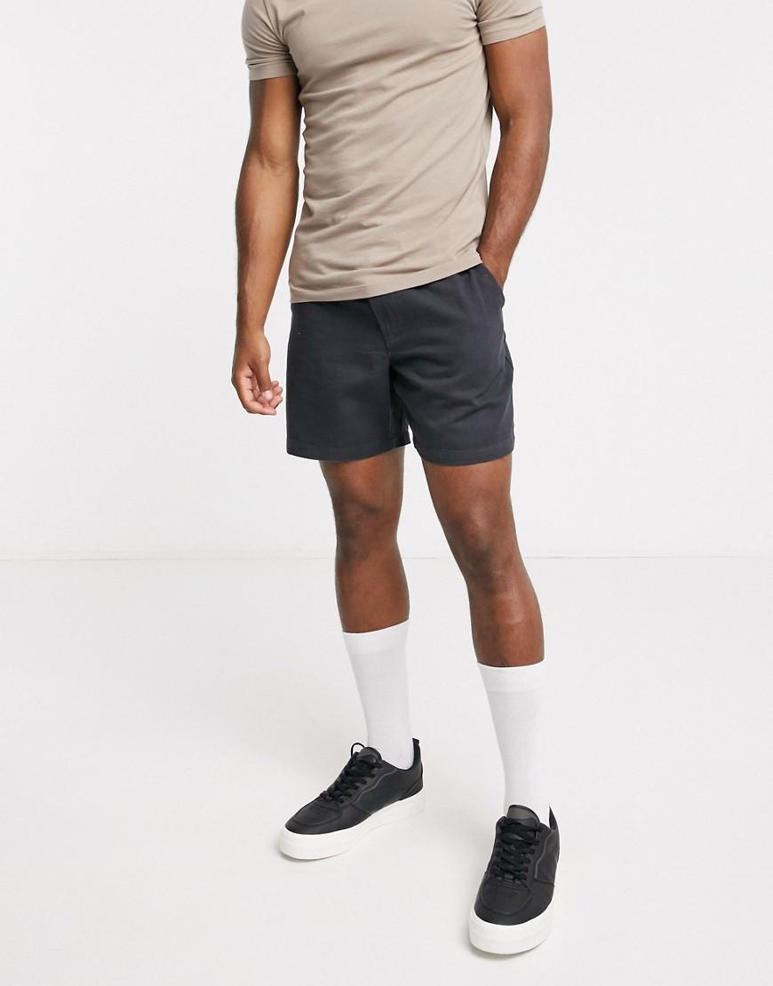 Topman | Темно-серые шорты Topman-Черный | Clouty