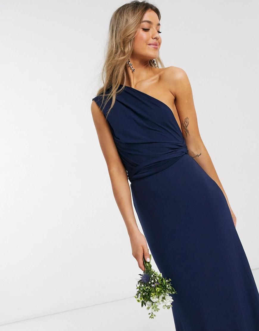 TFNC London | Темно-синее платье макси TFNC bridesmaid-Cuнuй | Clouty