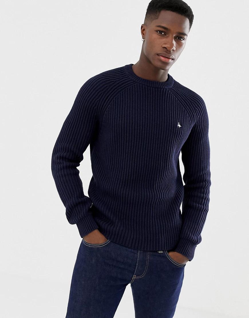 Jack Wills | Темно-синий джемпер в рыбацком стиле Jack Wills Hammond | Clouty