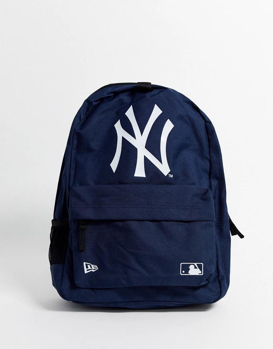 New Era | Темно-синий рюкзак с логотипом команды MLB NY от New Era | Clouty