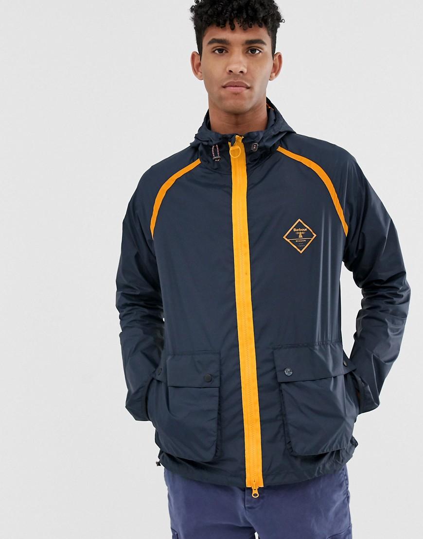 Barbour Beacon | Темно-синяя куртка с капюшоном Barbour Beacon Воwhill-Темно-синий | Clouty