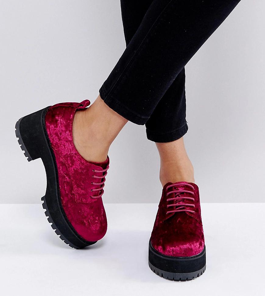 ASOS | Туфли на каблуке для широкой стопы со шнуровкой ASOS ОМЕGА-Розовый | Clouty
