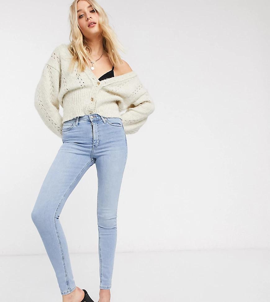 Topshop Tall   Выбеленные джинсы с карманами Topshop Таll-Синий   Clouty