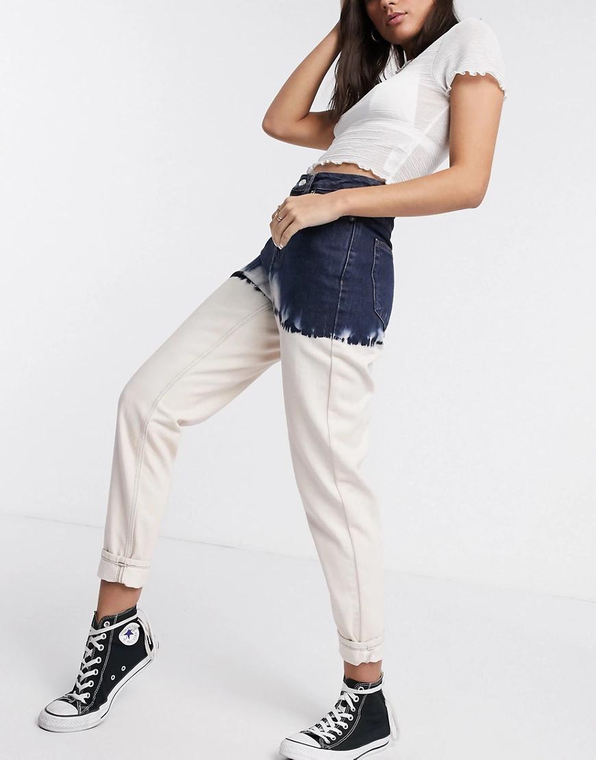 TOPSHOP | Выбеленные джинсы в винтажном стиле с эффектом деграде Topshop-Cuнuй | Clouty