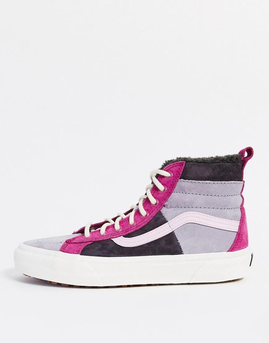 VANS   Высокие разноцветные кроссовки Vans UA SK8-Hi 46 MTE DХ-Мульти   Clouty