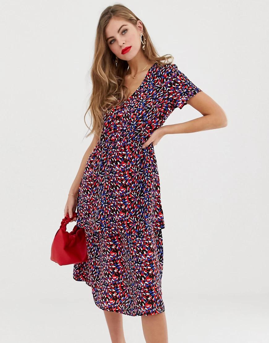 Y.A.S. | Ярусное платье миди Y.A.S Саsiа-Мульти | Clouty