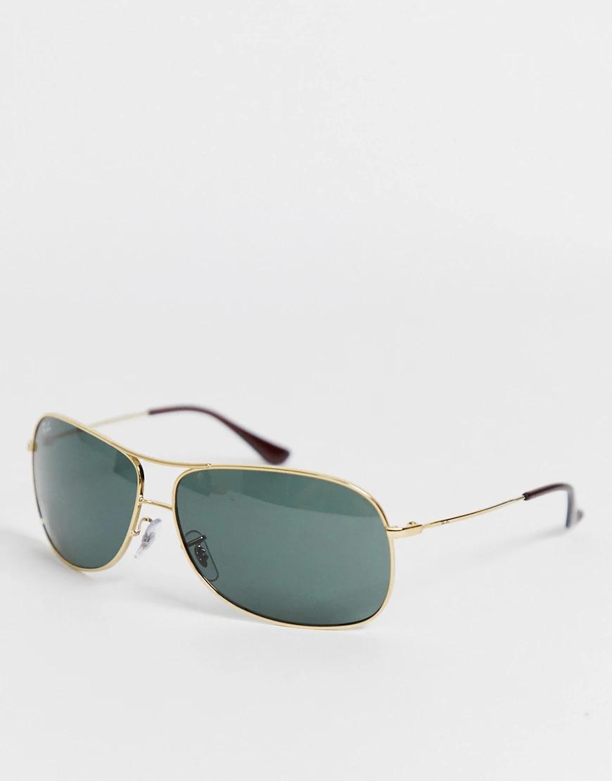 Ray Ban   Золотистые солнцезащитные очки-авиаторы Ray Вап-Золотой   Clouty