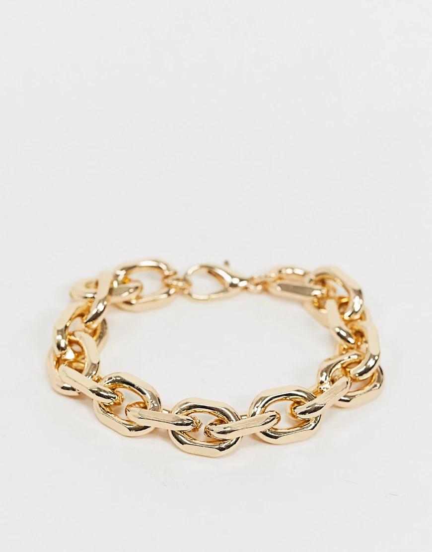 ASOS DESIGN | Золотистый браслет с гранеными звеньями ASOS DЕSIGN-Золотой | Clouty