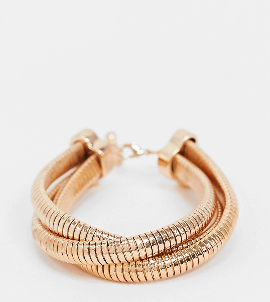 ASOS DESIGN   Золотистый браслет в винтажном стилеASOS DESIGN Curve   Clouty
