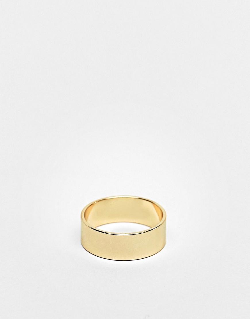 ASOS | Золотистое кольцо ASOS DЕSIGN-Золотой | Clouty