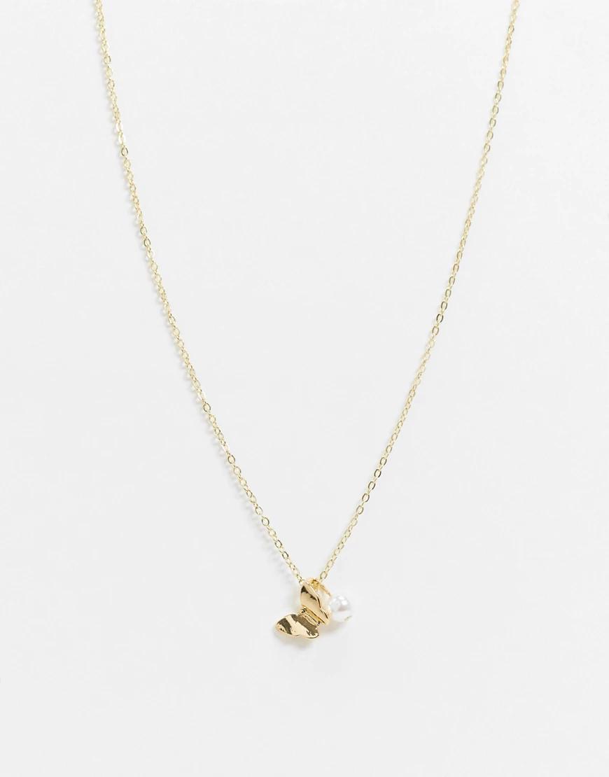 Designb London | Золотистое ожерелье с подвесками DesignB Lопdоп-Золотой | Clouty