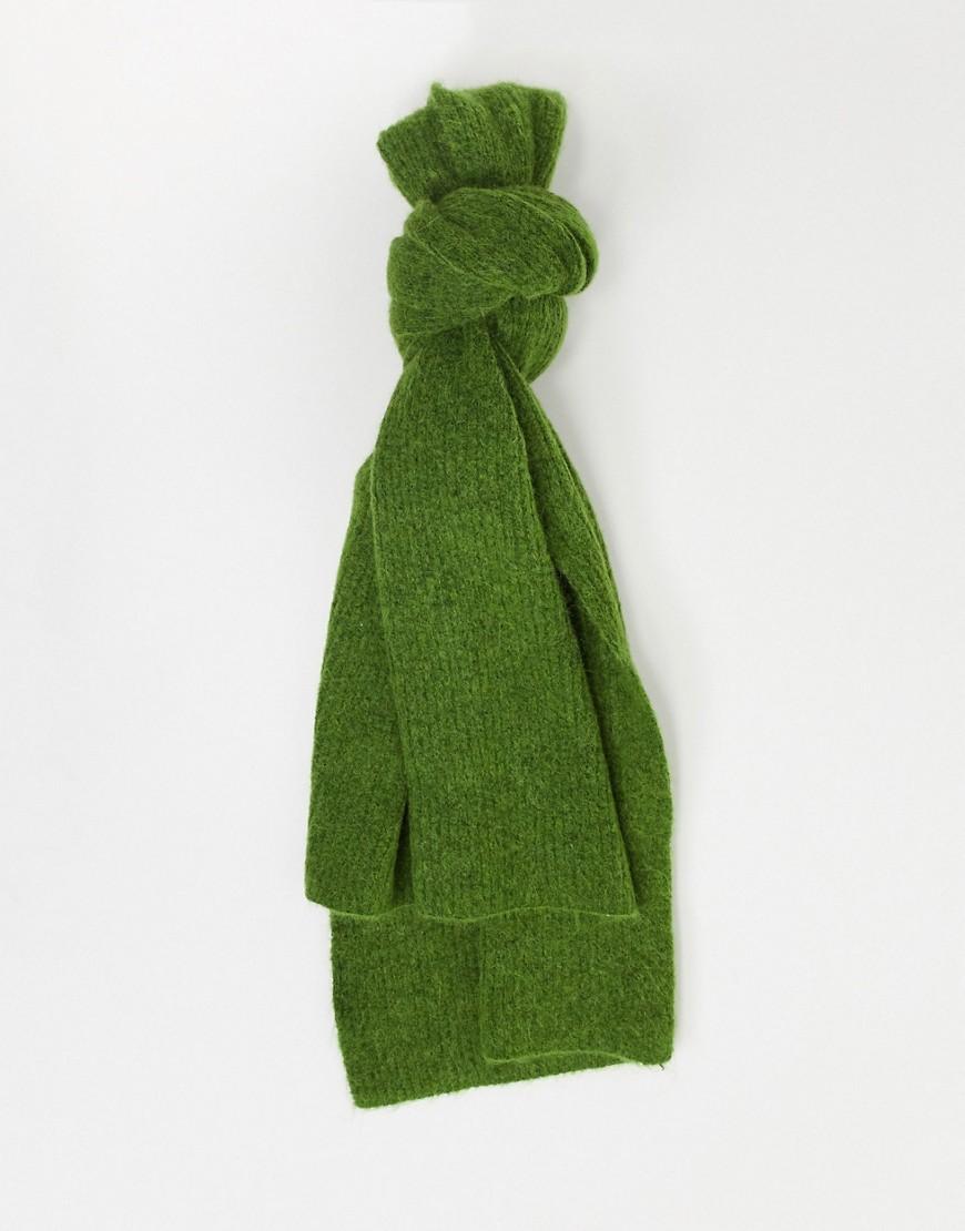 Selected | Зеленый вязаный шарф Selected Femme | Clouty