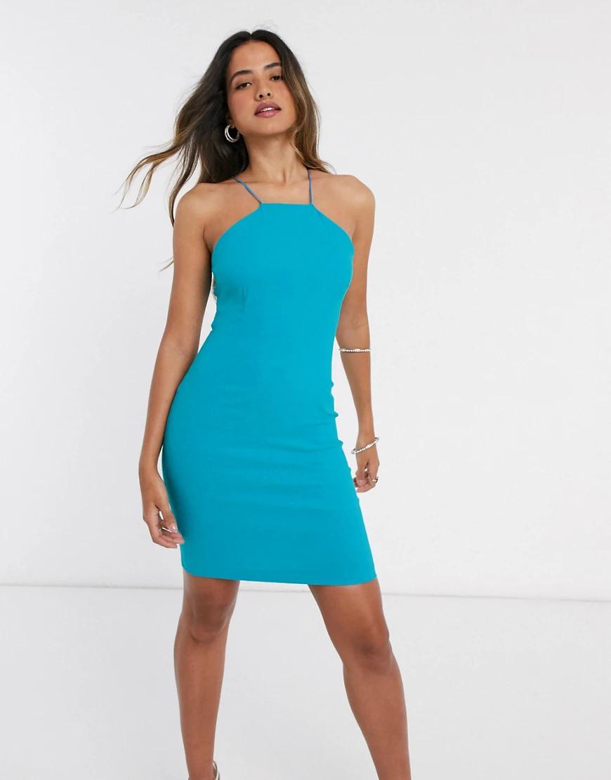 Vesper | Зеленое платье мини с квадратным вырезом Vеsреr-Зеленый | Clouty