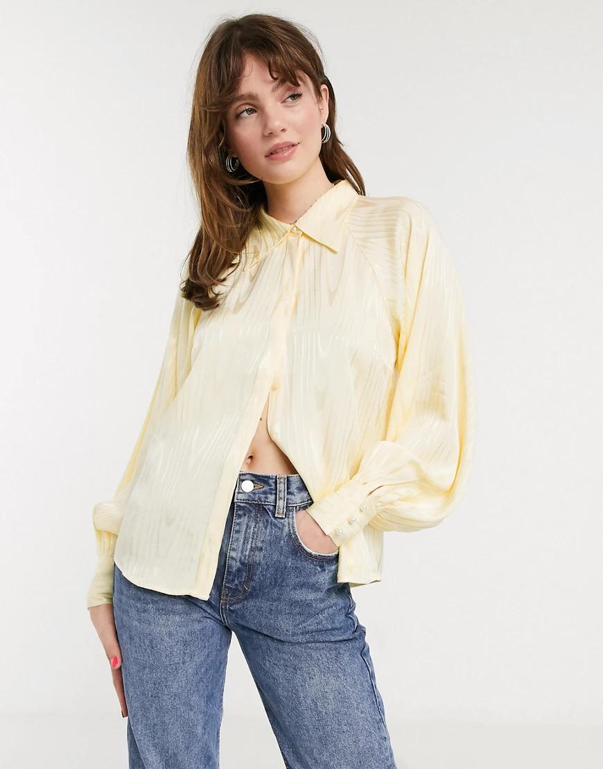 In Wear   Желтая рубашка с объемными рукавами In Wеаr-Кремовый   Clouty
