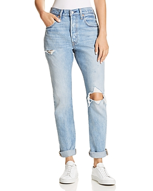 Levi's | Levi's 501 Destruct Slim Jeans in Can't Touch This | Clouty