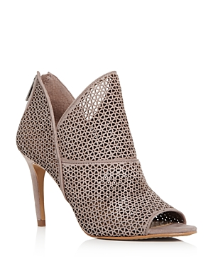 Vince Camuto | Vince Camuto Women's Vatena Perforated Nubuck Leather High Heel Booties | Clouty