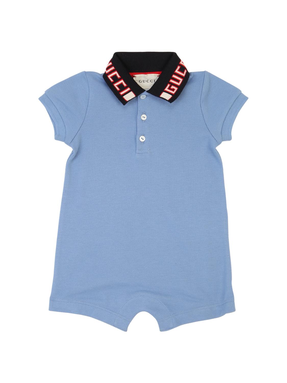 GUCCI | Комбинезон Из Стрейч-хлопка Пике | Clouty