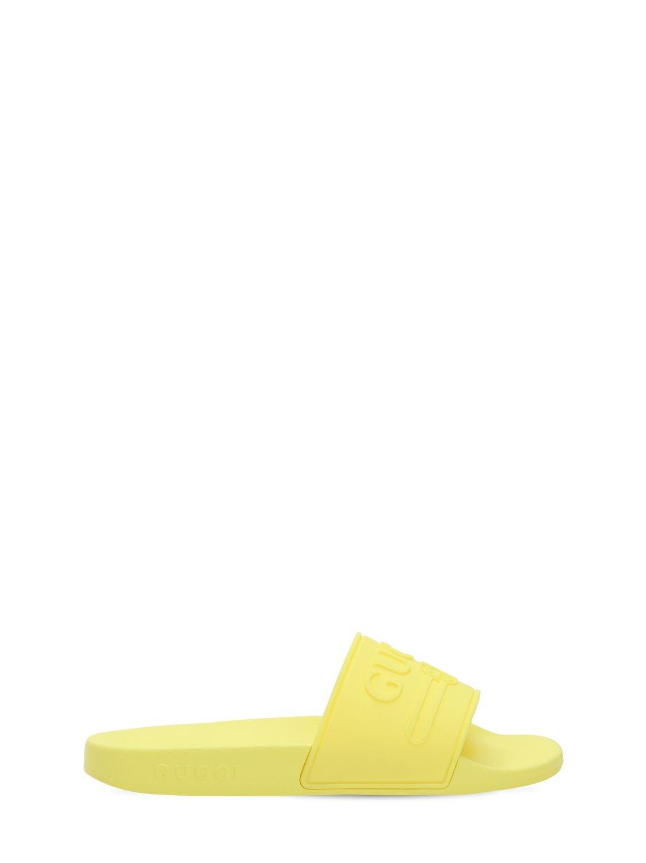 GUCCI | Резиновые Шлёпанцы С Тиснёным Логотипом | Clouty