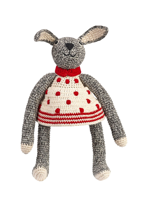 "ANNE-CLAIRE PETIT | Вязаная Игрушка Ручной Работы ""кролик"" Из Хлопка | Clouty"