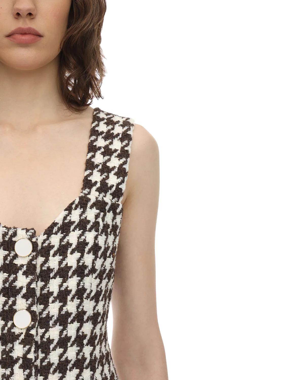 ROWEN ROSE | Платье Из Шерстяного Твида Exclusive | Clouty