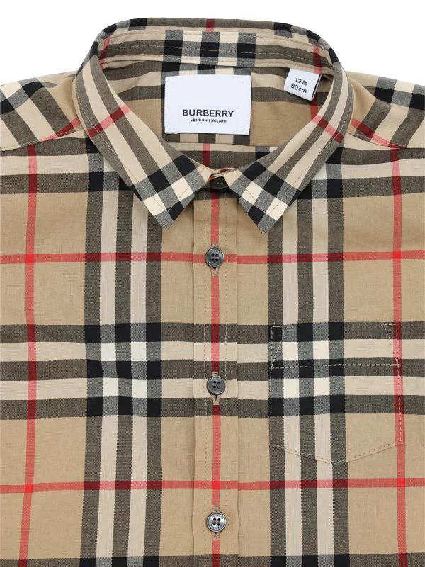 BURBERRY | Рубашка Из Поплин В Клетку | Clouty