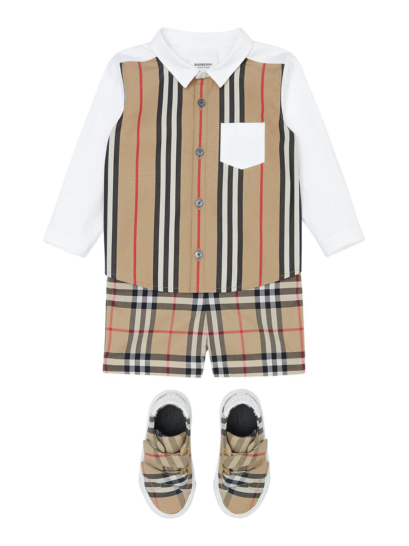 BURBERRY | Striped Cotton Poplin Shirt | Clouty