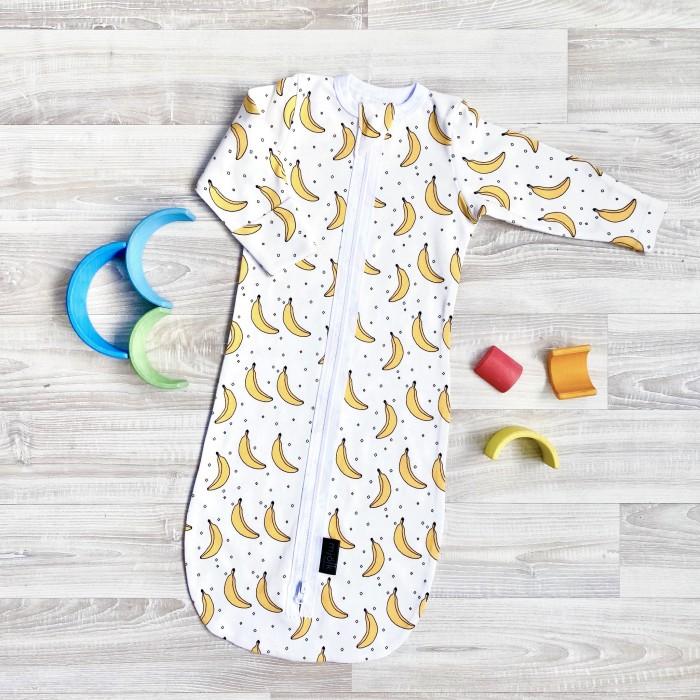 Mjolk | Спальный конверт Mjolk на молнии Бананы | Clouty