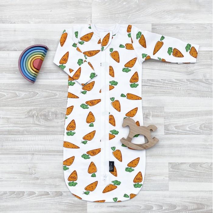 Mjolk | Спальный конверт Mjolk Утепленный Морковки | Clouty