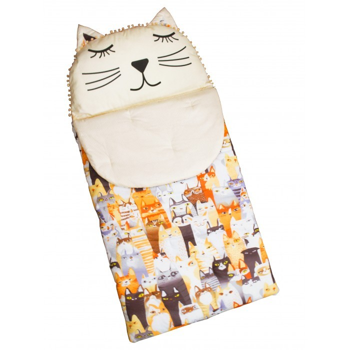 ДоММой   Спальный конверт ДоММой Спальный мешок Кошечка   Clouty