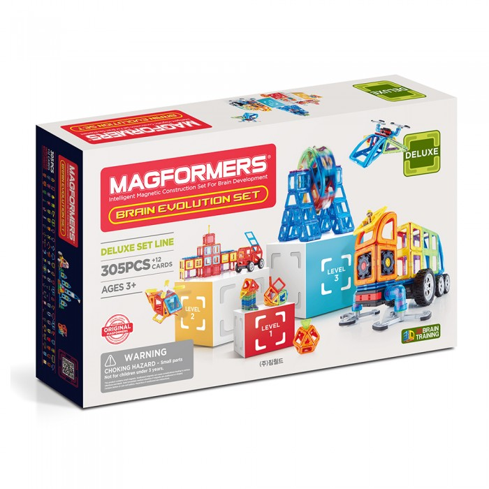 Magformers | Конструктор Magformers Магнитный Brain Evolution set (317 деталей) | Clouty