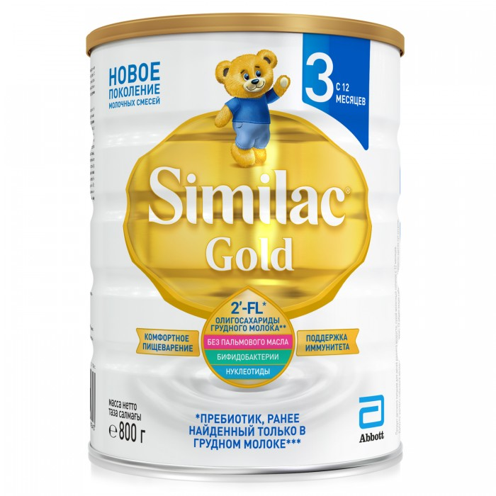 Similac | Similac Детское молочко Gold 3 12 мес.800 г | Clouty