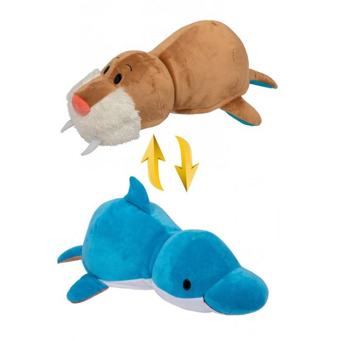 1TOY | Мягкая игрушка 1 Toy Вывернушка 2в1 Дельфин-Морж 40 см | Clouty