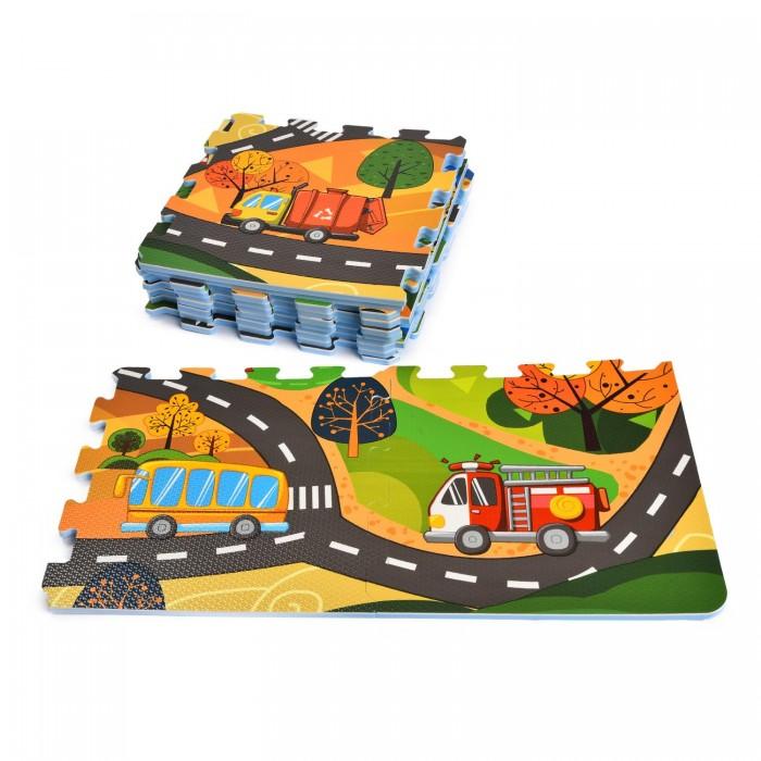 ЯиГрушка | Игровой коврик ЯиГрушка пазл Городской мир (12 деталей) | Clouty