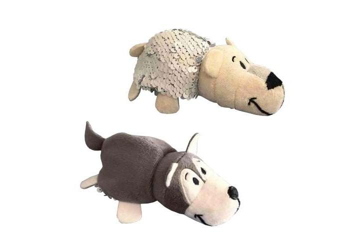 1TOY | Мягкая игрушка 1 Toy Вывернушка Хаски-Полярный медведь Блеск с паетками 12 см | Clouty