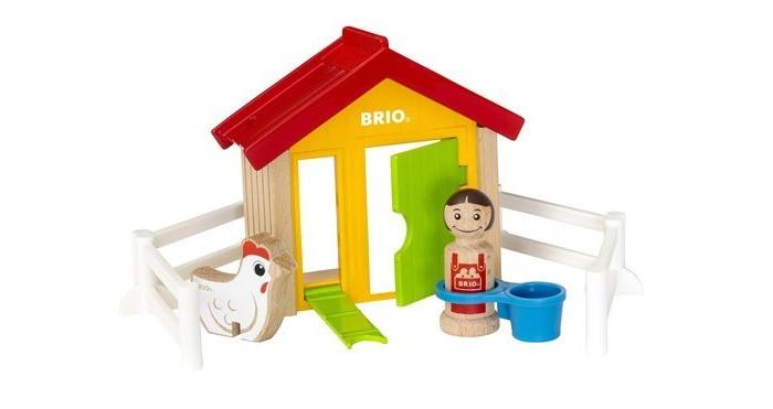 Brio | Деревянная игрушка Brio Набор Мой родной дом Курятник | Clouty