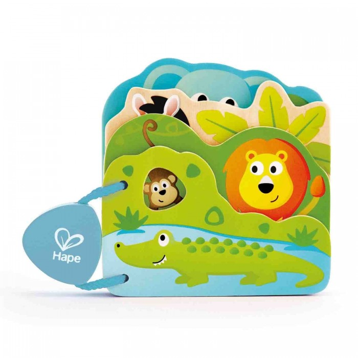 Hape | Деревянная игрушка Hape Книга Дикие животные | Clouty