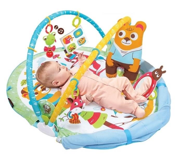 Yookidoo | Развивающий коврик Yookidoo 2-в-1 Играй и отдыхай | Clouty