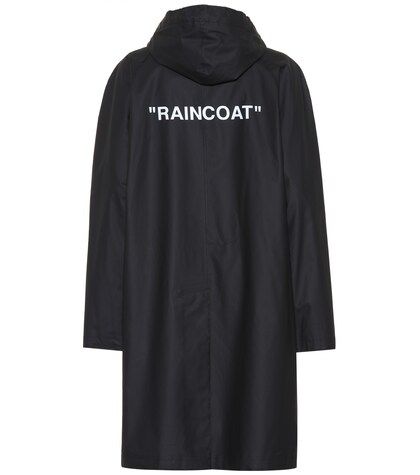 Off-White | Quote printed raincoat | Clouty