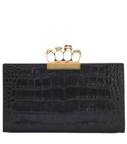 Alexander McQueen | Embellished leather clutch | Clouty