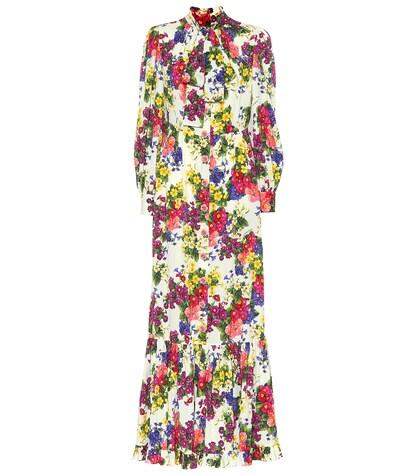 Dolce & Gabbana   Floral stretch silk dress   Clouty