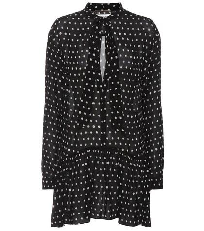 SAINT LAURENT | Polka dot minidress | Clouty